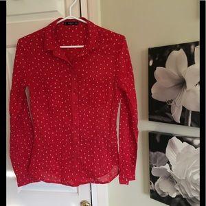 Mango blouse with Tulip print